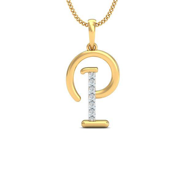 """P"" Diamond Pendant"