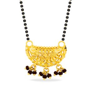 Black Bead Gold Mangalsutra