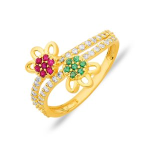 Colour Stone Gold Ring