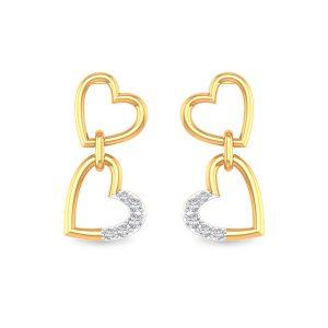 Heart Diamond Earring