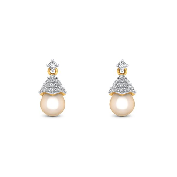 Diamond Cup Drop Earrings