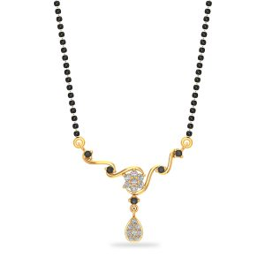 Gold Girl Power Mangalsutra Pendant