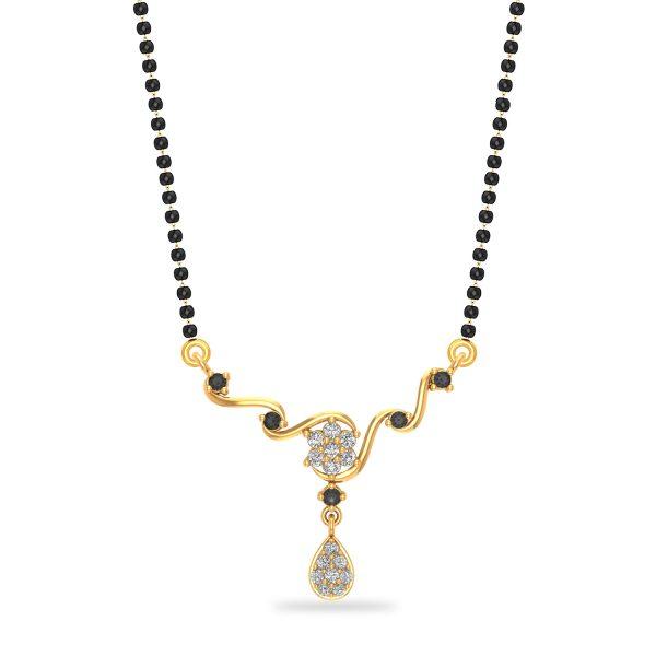 Gold Girl Power Mangalsutra Pendant
